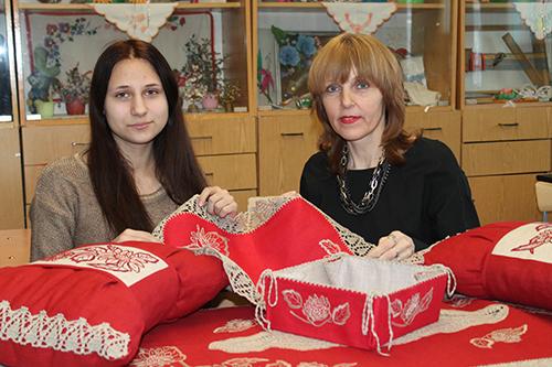 Яна Баранкевич с преподавательницей Валентиной Ивановной Невмержицкой